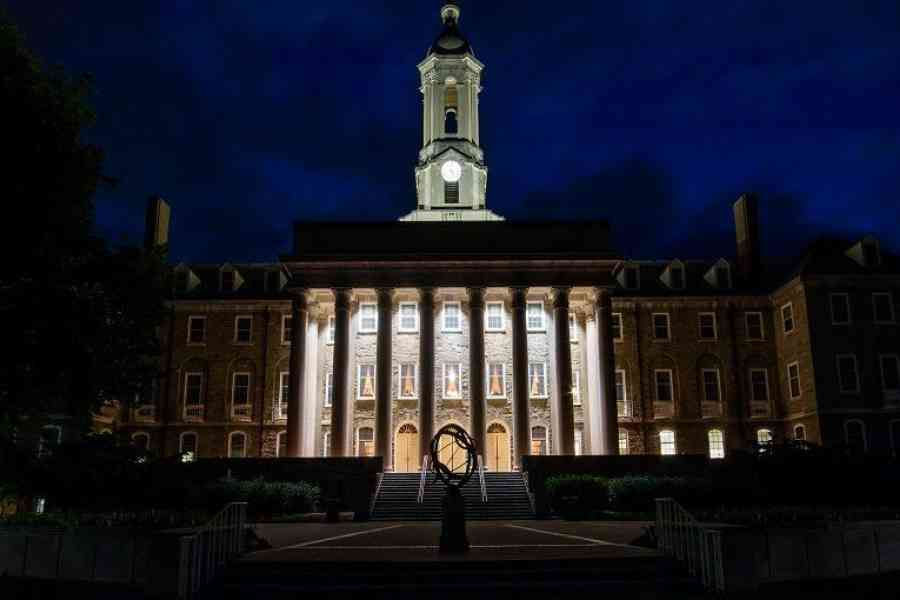Old Main at Night, Penn State